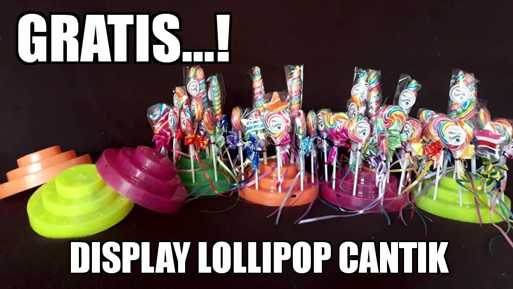 display permen lollipop okeliebe